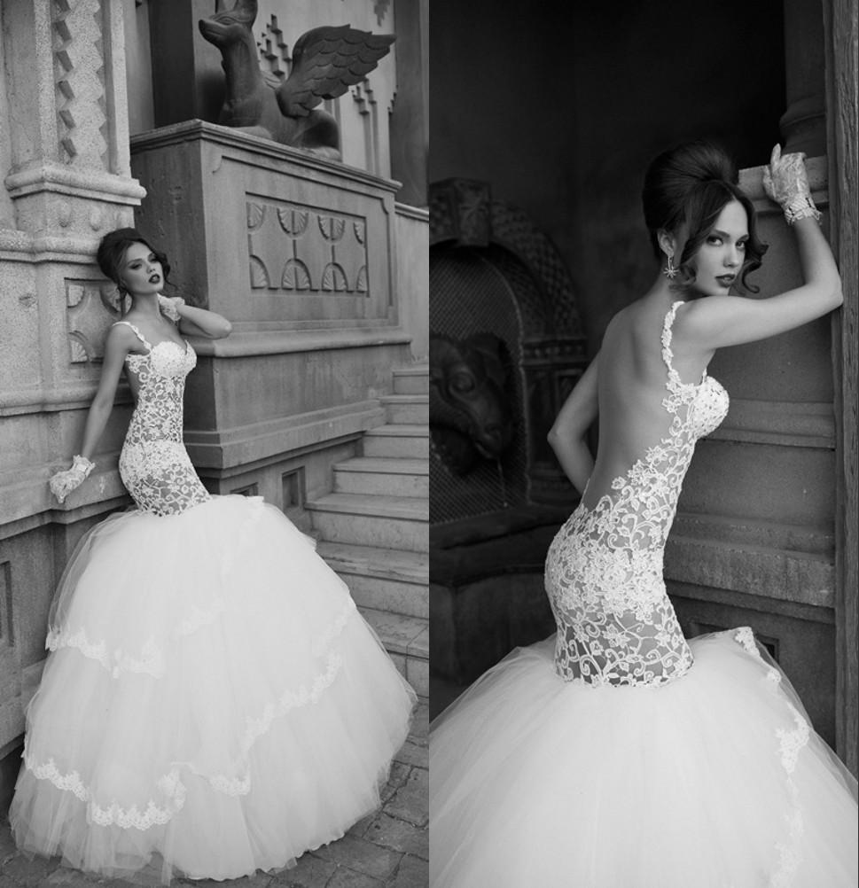 Dimitrusdilia Designer Mermaid Detachable Skirt Wedding Dress Sexy ...