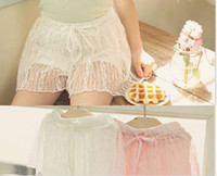 Shorts Girl Summer 2014 Summer New Arrival Children Shorts Korean Ultrathin Cool Girl Lace Shorts Kids Lace Pants Pure Cotton Child Wear GX04