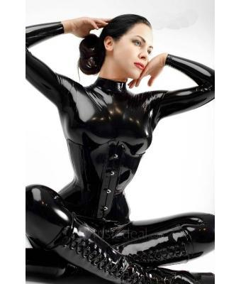 2018 sexy black women 39 s full body latex catsuit women full bodysuit leotard latex clothing latex. Black Bedroom Furniture Sets. Home Design Ideas