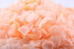 Wholesale Lemon Chiffon cm Bulk Rose Petals Fabric Flower Petal Silk Petals Bridal Party Vase Aisle Wedding Decoration bags