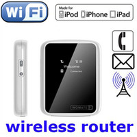 Wholesale 2nd Gen Womate G wireless Router Womate2 wifi one SIM card for call for iPhone ipod Android smart phone