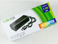 al por mayor adaptador de cable de alimentación de xbox-X-360 delgado de la UE de EE.UU. Cable adaptador de enchufe de CA Adaptador de la fuente de alimentación del cargador para el ENVÍO LIBRE delgado DHL FEDEX Microsoft XBOX 360