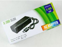 Wholesale X Slim EU US PLUG AC Adapter Adaptor Power Supply Cord Charger for Microsoft XBOX Slim DHL FEDEX