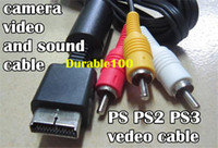 Wholesale PS PS2 PS3 Ft Audio Video AV Cable cord to RCA PlayStation PS2 Playtation PS3 up