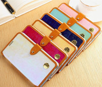 For Samsung Leather Wholesale Colorful Magnetic PU Leather Wallet Stand Case Cover Shiny Skin For Samsung Galaxy Note 3 III N9000 N9006