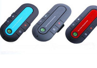 Wholesale Portable Wireless Bluetooth Speakerphone Car Kit Handsfree With Car Charger Can Connect two Phones AB3901