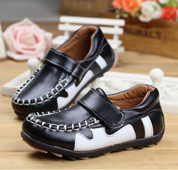 Wholesale 2014 Spring New Arrival Ventilation Kid s Boy Girl Leather Casual Shoes Big Size Children Dress Shoes pair GX08