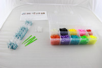 Wholesale plastic box Bracelet Loom Kit Rainbow Loom S hook over BandS colors Storage Kit