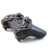 Wholesale NEW Version PS3 Wireless Bluetooth Game Controller Joysticks Available Real SixAxis Factory Sale DHL Free