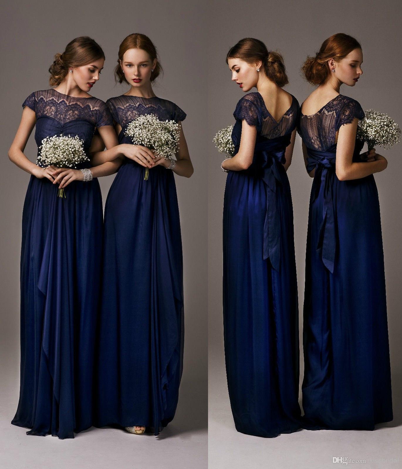 wholesale navy blue bridesmaid dresses