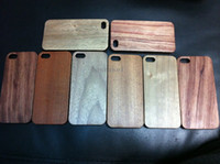 Wholesale Bamboo Wood PC Wooden Case Cover for iPhone S iphone S Samsung S4