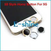 Wholesale 5S Style Replacement Home Button With Metal Ring for iPhone G Main Return Key Fast Shipping