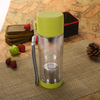 Wholesale Hot sale Leak ProofDouble Plastic Water Bottle Contain the Filter Tea Interval Travel Water PC Cup Tea Bottle