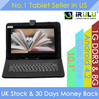 "Under $100 irulu 10 inch iRuLu 10"" 10.1"" Inch Android 4.2 A23 Tablet PC Dual Core 8GB RAM 1G Capacitive Dual Camera WIFI 10.1"" 10.2"" Tablet Bundle 10.1"" Keyboard"