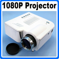 Wholesale New Remote Portable Mini Digital HD P LED Projector quot Cinema Theater PC AV VGA USB SD Input Mini Projetor