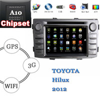 Wholesale anroid hd touch sreen car dvd player toyota Hilux din with dual boot system gps navigation wifi g radio cd atv