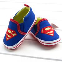 Boy batman shoes - 2014 new Very cool Superman batman Baby boys shoes Soft Sole new born Learning Walk Shoes cartoon Anti slip Toddler shoes CM