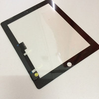 Wholesale High quality Touch Screen Glass Panel With Digitizer Replacement Black And White For iPad kingdom2013