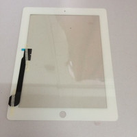 Wholesale Factory supply Touch Screen Glass Panel With Digitizer Replacement Black And White For iPad kingdom2013