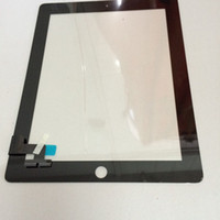 Wholesale Digitizer Touch Screen Pannel for the new iPad ipad ipad Black White Glass Faceplate Repair Part Replacement DHL