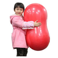 Wholesale 2013 PVC Kid s Eco friendly thickening peanut ball child training toy yoga ball crossfit exercise fitness gym inflatable toys