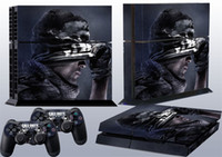 ps4 all tested before shipping Protectiver sticker Call Of Duty Ghosts 02 Vinyl Skin Sticker for PlayStation4 PS4 & 2 controllers