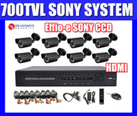 Wholesale 8ch DVR Kit CCTV System TVL Sony CCD Waterproof IR Camera h ch Full D1 CCTV DVR recorder Security System