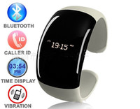 vibrating bracelet - Fashion Bluetooth Bracelet for Many Mobiles handfree bluetooth watch bracelet for phonecalls LED screen wrist vibrating phone speaker