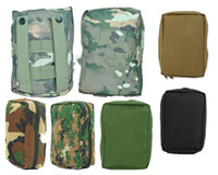 Wholesale 5 Camo Colors Airsoft Molle Military First Aid Kit Tactical Medical Pouch High Quality Nylon Material Bag
