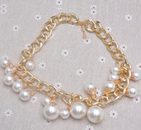 Wholesale Hot Selling Fashion Women Pearl Necklace Punk Style Necklace