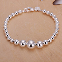 Wholesale Fashion Silver Beads Women Jewelry Charm Big And Small Bead Bracelet