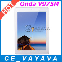 Onda 9.7 inch Quad Core Android 4.3 Onda V975M 2G 16G 9.7 Inch Retina Screen Tablet PC Amlogic M802 2GHZ Quad Core Dual Camera HDMI OTG Bluetooth