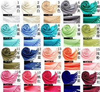 Wholesale Hot Sales Pashmina Cashmere Silk Solid Shawl Wrap Women s Girls Ladies Scarf Accessories Color z07