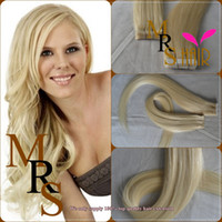 Wholesale 613 light blonde adhesive skin weft tape in remy brazilian remy hair extensions quot quot promotion hot sale