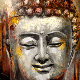 Hand-painted Modern Canvas Oil Painting on Canvas Buddha Art for Wall Decoration Square Size Support Droppshipping 1Panel