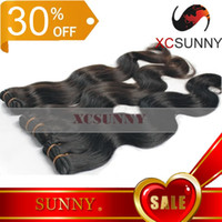 Wholesale 30 OFF XCSUNNY quot quot Body Wave Brazilian Virgin Remy Human Hair Weft Weave DHL BVH004