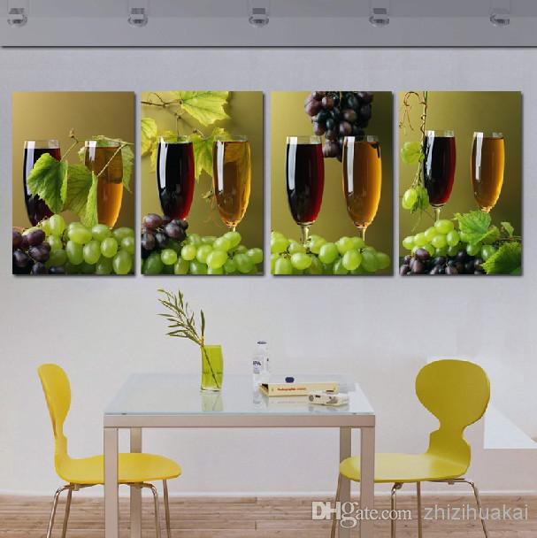 4 Piece Giolla Wall Decor Set : Wall art set modern picture abstract oil painting
