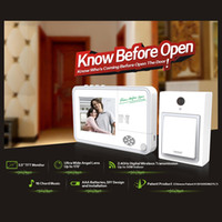 Wholesale new arrival wireless door viewer inch TFT monitor with CMOS Sensor chord music volume wireless distance m outdoor and m indoorg