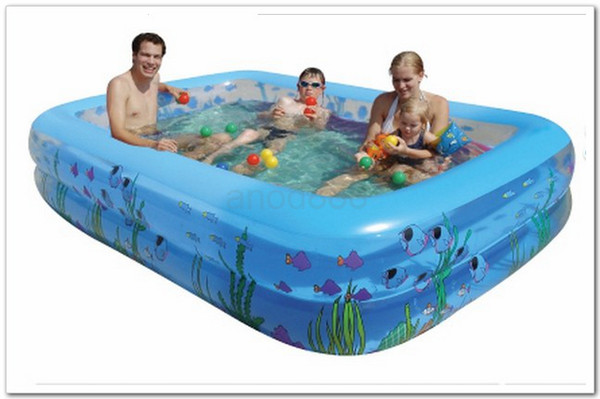 Piscine gonflable rectangulaire avec pompe for Piscine gonflable rectangulaire