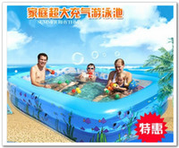 Wholesale Fedex Free Size CM Rectangular inflatable pool family ultra large swimming pool children s toys fishing pond with air pump