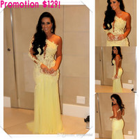 Wholesale Hot Elegant One Shoulder Backless A Line Zuhair Murad Sexy Chiffon Lace Prom Dress Prom Dresses With Long Sleeves Sexy Cheap Prom Dress
