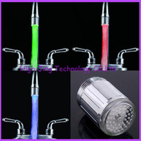 ABS faucets - Water Glow LED Faucet Stream Light Temperature Sensor Safety Environmental Protection Shower led tap lights