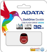No USB 2.0 Plastic ADATA UD310 16GB 32GB 64GB DashDrive Durable UD310 Unità flash USB 16GB 32GB 64GB USB 2.0 nero AUD310-64G-RBK ADATA USB Flash 16GB 32GB 64