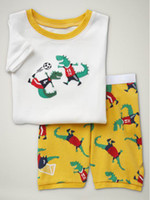 Unisex Summer 12M.18M.24M.3T.4T.5T Baby Pajamas 8003 Children Clothes Baby Short Sleeve T-shirts+Shorts 2 Pcs Set Pajamas Kid Outfits