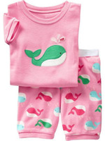 Girl Summer 12M.18M.24M.3T.4T.5T Baby Pajamas 8094 Children Clothes Baby Short Sleeve T-shirts+Shorts 2 Pcs Set Pajamas Kid Outfits