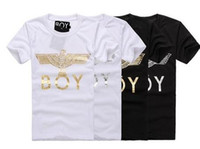 Wholesale 2014 New BOY LONDON Inkigayo Bigbang stylish simplicity eagle couple of letters short sleeve T shirt