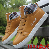 Lace-Up Men PU spring and autumn fashion casual shoes British men shoes QA14