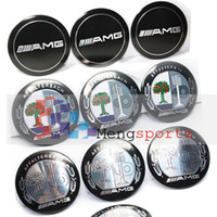 alloy aluminum tree - 400pcs D002 TOP Tree Color D Wheel Center Sticker Badges Car Styling Emblem mm
