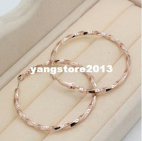 Wholesale Accessories k gold plated contracted fashion female ear ring Hoop Earrings