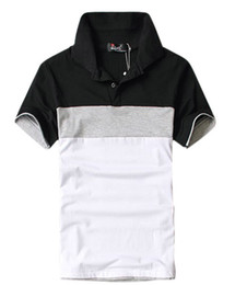 Wholesale we best hot sale fashion amp casual men s turn down collar short sleeve polo shirts Drop shipping MTP010